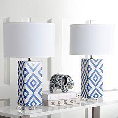 Safavieh 2 pc Geometric Table Lamp Set