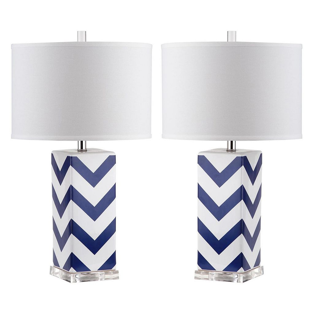 Safavieh 2-piece Chevron Table Lamp Set