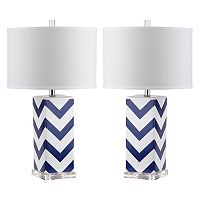 Safavieh 2 pc Chevron Table Lamp Set