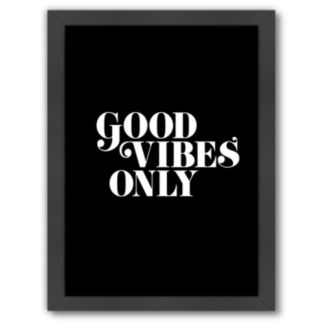 """Americanflat """"Good Vibes Only"""" Framed Wall Art"""