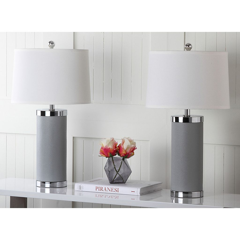 Safavieh 2-piece Column Table Lamp Set