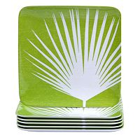 Certified International Paradise by Suzanne Nicoll 6-pc. Melamine Square Salad Plate Set