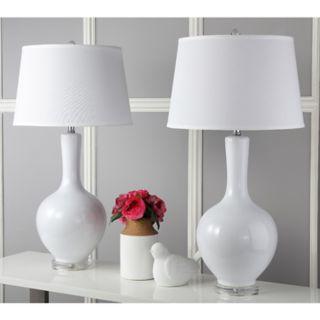 Safavieh 2-piece Blanche Gourd Lamp Set