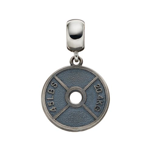 Insignia Collection Sterling Silver Weight Plate Charm