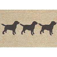 Trans Ocean Imports Liora Manne Frontporch Doggies Indoor Outdoor Rug