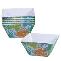 Certified International Paradise by Suzanne Nicoll 6 pc Melamine Square Ice Cream Bowl Set