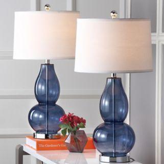 Safavieh 2-piece Mercurio Double Gourd Lamp Set