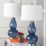 Safavieh 2 pc Mercurio Double Gourd Lamp Set