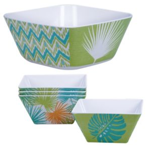 Certified International Paradise by Suzanne Nicoll 5-pc. Melamine Salad Serving Set