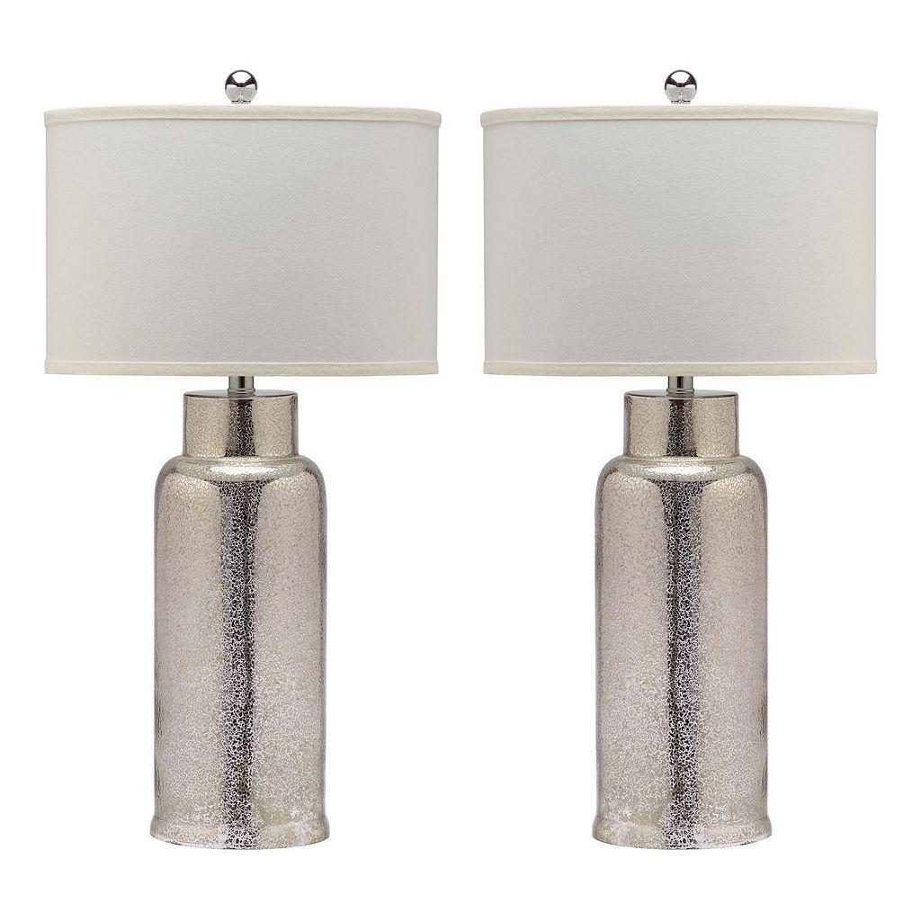 Safavieh 2-piece Bottle Glass Table Lamp
