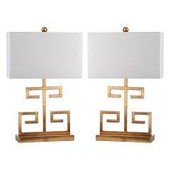Safavieh 2-piece Greek Key Table Lamp Set