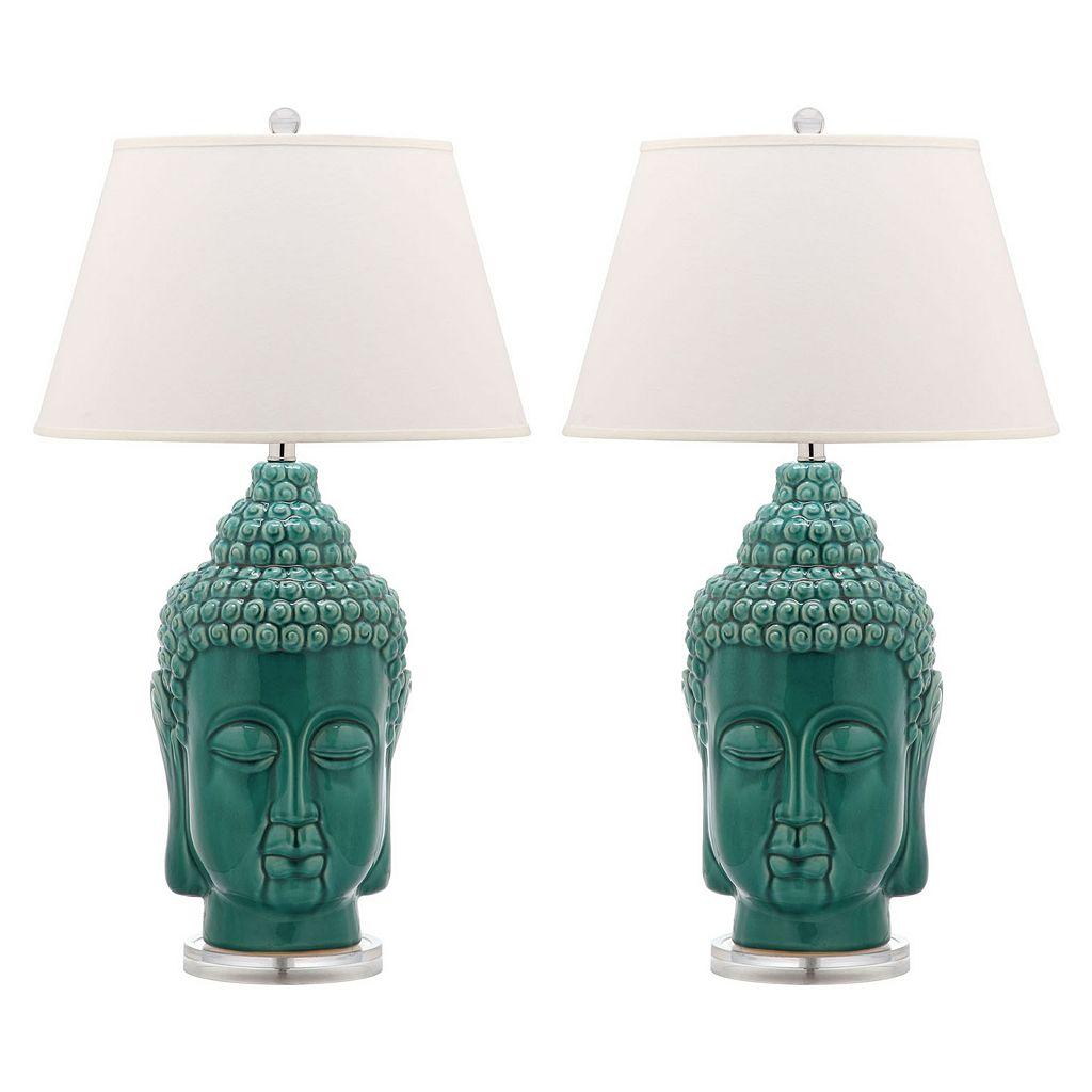 Safavieh 2-piece Serenity Buddha Table Lamp Set