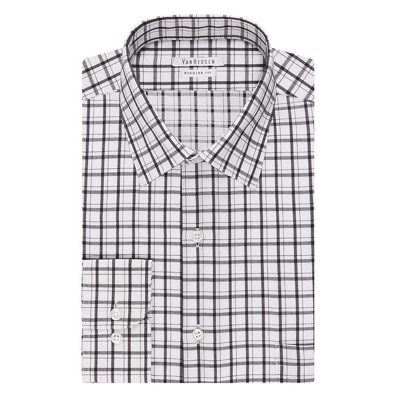 Big & Tall Van Heusen Regular-Fit Checked Wrinkle-Free Dress Shirt