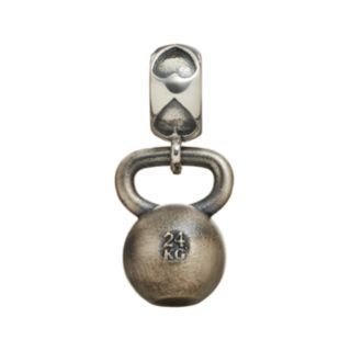 Insignia Collection Sterling Silver Kettlebell Charm