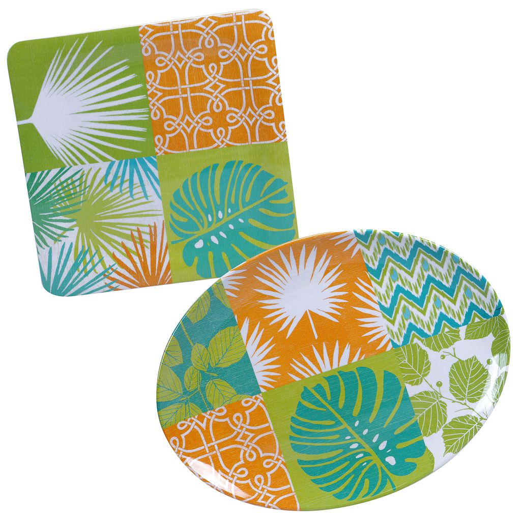 Certified International Paradise by Suzanne Nicoll 2-pc. Serving Platter Set