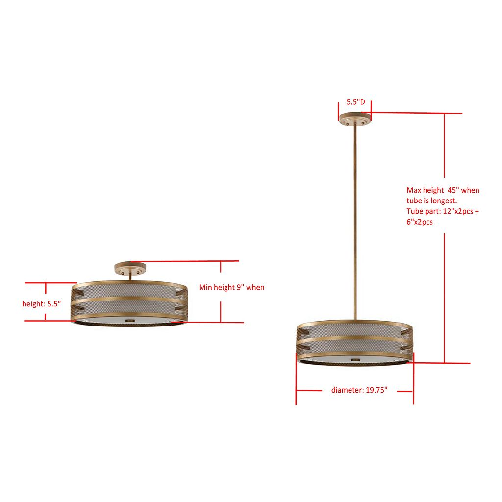 Safavieh Greta Veil Pendant Light