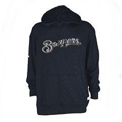Men's Milwaukee Brewers Slub Hooded Pullover