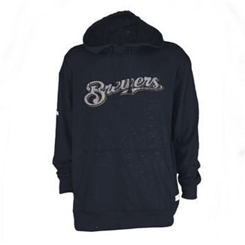 Men's Milwaukee Brewers Slub Hooded Pullover