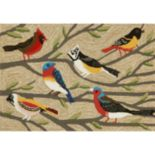 Trans Ocean Imports Liora Manne Frontporch Birds Indoor Outdoor Rug