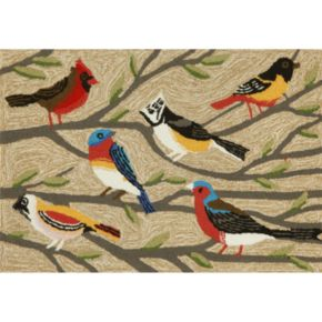 Liora Manne Frontporch Birds Indoor Outdoor Rug