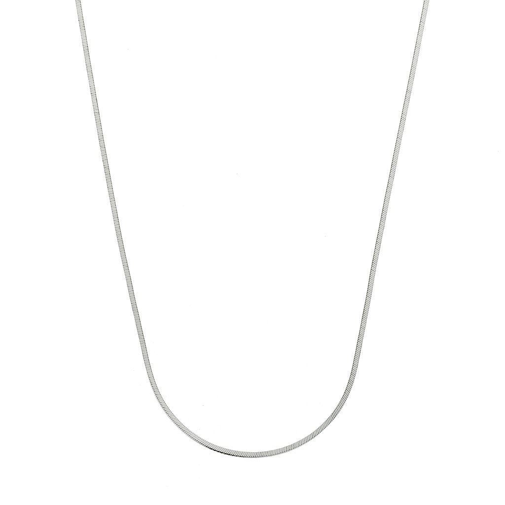 Sterling Silver Square Snake Chain Necklace - 24 in.