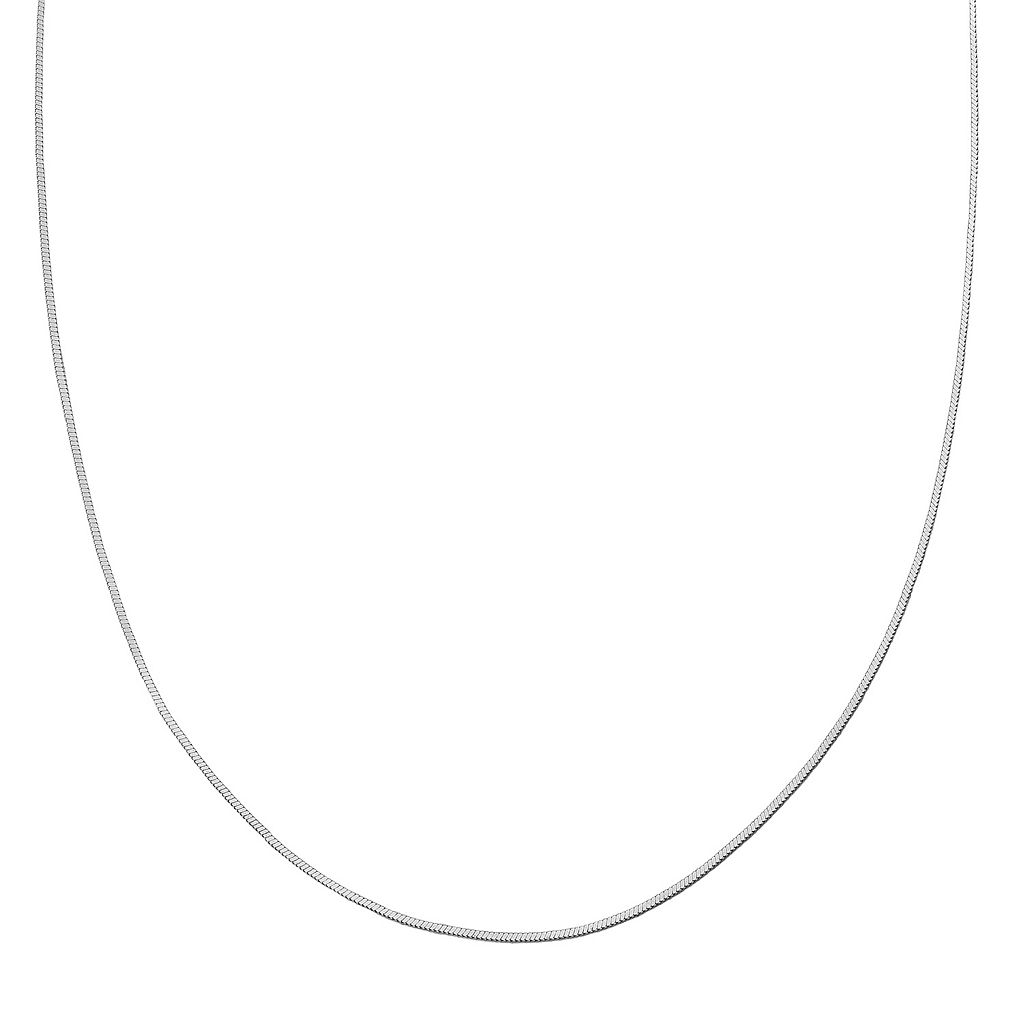Sterling Silver Square Snake Chain Necklace - 30 in.