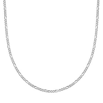 Sterling Silver Figaro Chain Necklace - 30 in.