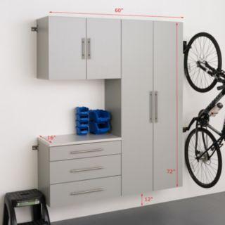 """Prepac HangUps B 60"""" Storage Cabinet 3-piece Set"""