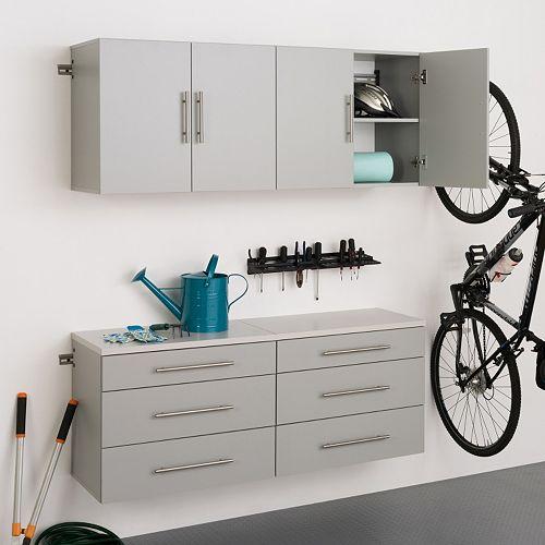 """Prepac HangUps F 60"""" Storage Cabinet 4-piece Set"""