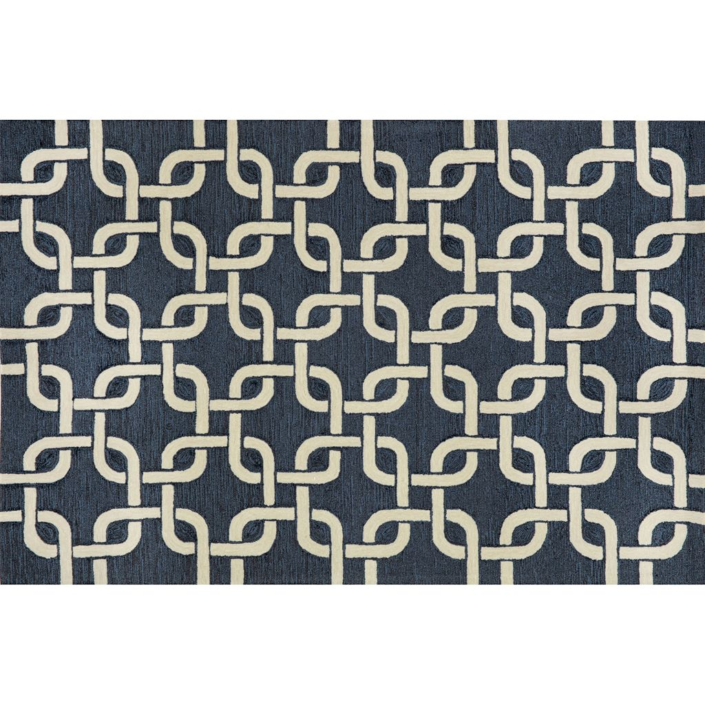 Trans Ocean Imports Liora Manne Spello Chains Geometric Indoor Outdoor Rug