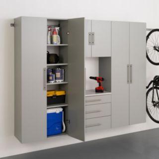 """Prepac HangUps G 90"""" Storage Cabinet 4-piece Set"""