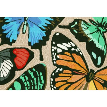 Trans Ocean Imports Liora Manne Frontporch Butterfly Dance Indoor Outdoor Rug