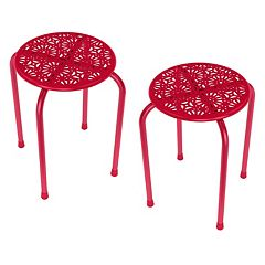 dar 2 pc Daisy Side Table Set