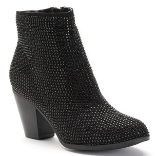 cd9202b99e6 Juicy Couture Women's Rhinestone Ankle Boots