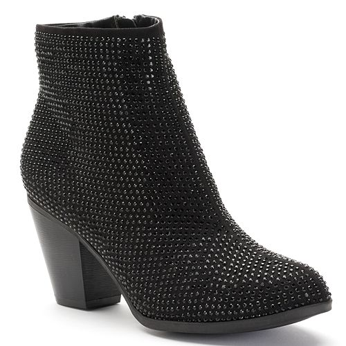 7d18d70a362 Juicy Couture Women s Rhinestone Ankle Boots