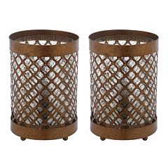 Safavieh 2-piece Borden Hurricane Table Lamp Set