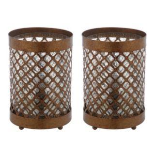 Safavieh 2-piece Borden Hurricane Table Lamp Set