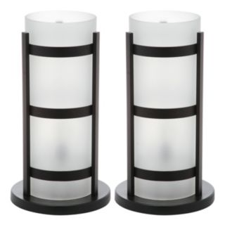 Safavieh 2-piece Minter Hurricane Table Lamp Set