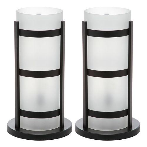 Safavieh 2-piece Minter Hurricane Table Lamp Set