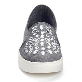 sugar Izette Women's Rhinestone Slip-On Sneakers