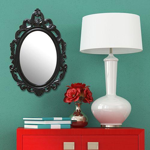 Stratton Home Decor Baroque Teardrop Wall Mirror