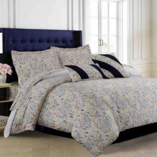 Fiji 300-Thread Count Egyptian Cotton Sateen 5-pc. Duvet Cover Set