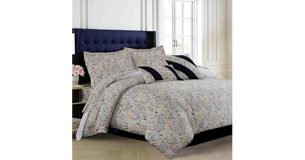 Fiji 300 Thread Count Egyptian Cotton Sateen 5 Pc Duvet