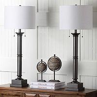 Safavieh 2 pc Estilo Column Table Lamp Set