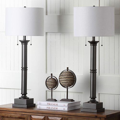 Safavieh 2-piece Estilo Column Table Lamp Set
