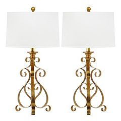 Safavieh 2-piece Scroll Sculpture Table Lamp Set