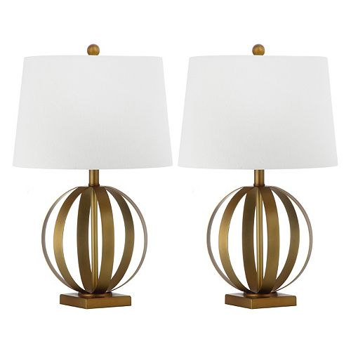 Safavieh 2-piece Euginia Sphere Table Lamp Set