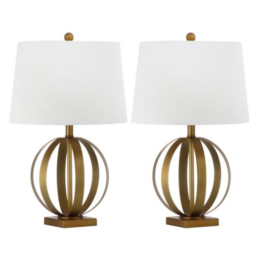 Safavieh 2-piece Euginia Sphere Table Lamp Set