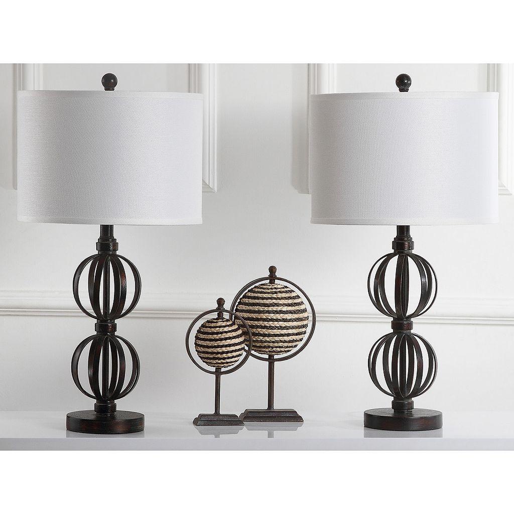 Safavieh 2-piece Calista Double Sphere Table Lamp Set