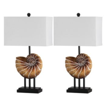 Safavieh 2-piece Nautilus Shell Table Lamp Set
